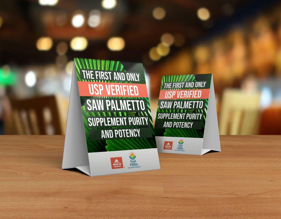 Valensa Saw Palmetto Tent card